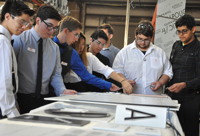 SECTA students get a hands-on experience at the Young Electric Sign Company as part of the FutuReady program, Oct. 26. Photo by Buford Davis | Business Press