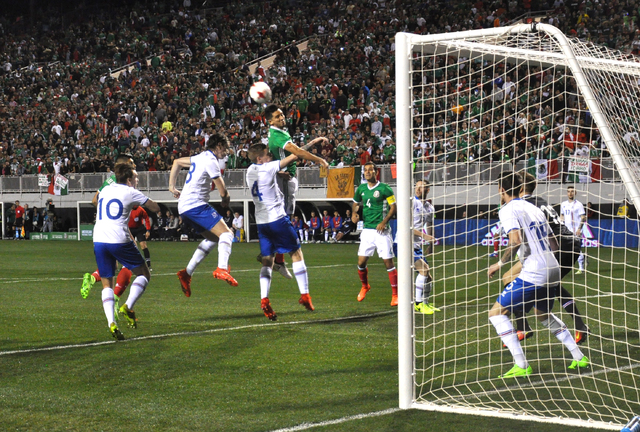 Mexico outshot Iceland 23 to 5 in their friendly at Sam Boyd Stadium, Feb. 8 Photo by Buford Davis / Las Vegas Business Press