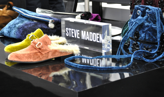 Steve Madden merchandise on display during MAGIC 2017, at the Mandalay Bay and Las Vegas Convention Centers, Feb. 21-23. (Buford Davis/Las Vegas Business Press)