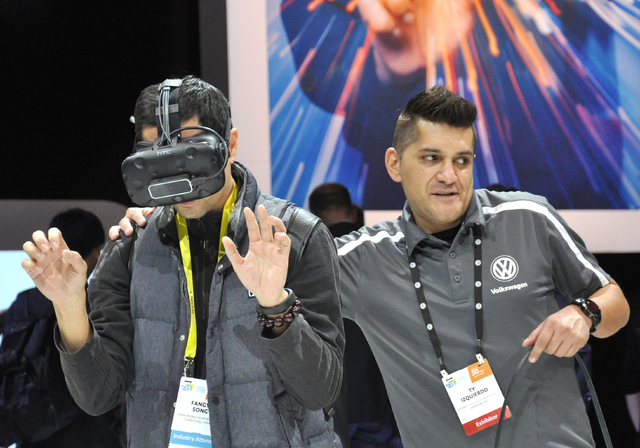 Virtual reality technology, utilized for anything from gaming to innovative auto design, was among the sectors of particular interest at CES 2017. (Buford Davis/Las Vegas Business Press)