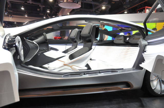 LeEco debuted its LeSee electric concept car at CES 2017. The vehicle has autonomous driving and facial recognition capabilities. (Buford Davis/Las Vegas Business Press)