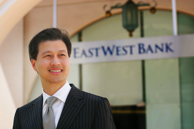Dominic Ng, CEO of East West Bank, sees a bright future for Asian investment in Las Vegas. He is photographed outside the bank's office in Pasadena. (Courtesy/photo by Ringo H.W. Chiu)