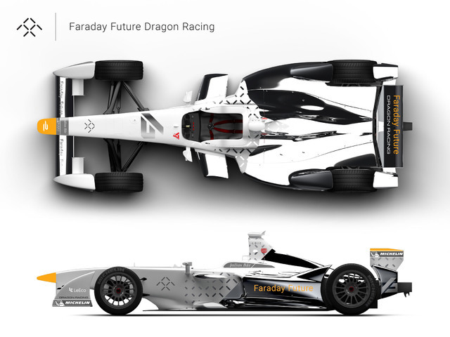 Faraday Future Dragon Racing Formula E livery concept. (Courtesy)