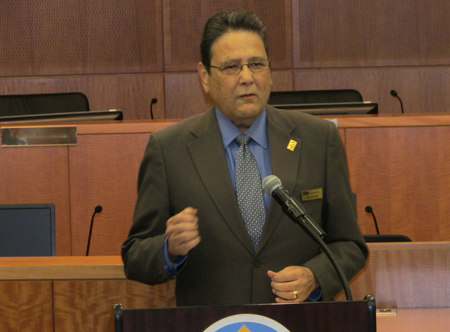 Bob Holguin, district director at Nevada Small Business Administration, speaks to the graduating class of SBA's Emerging Leader program. (Courtesy photo)