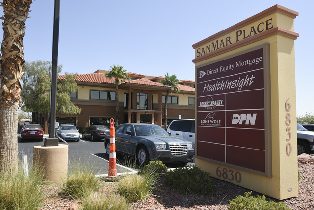 The HealthInsight Nevada office at 6830 W Oquendo Road  #102 in Las Vegas is shown Tuesday, June 2, 2015. (Jason Ogulnik/Las Vegas Review-Journal)