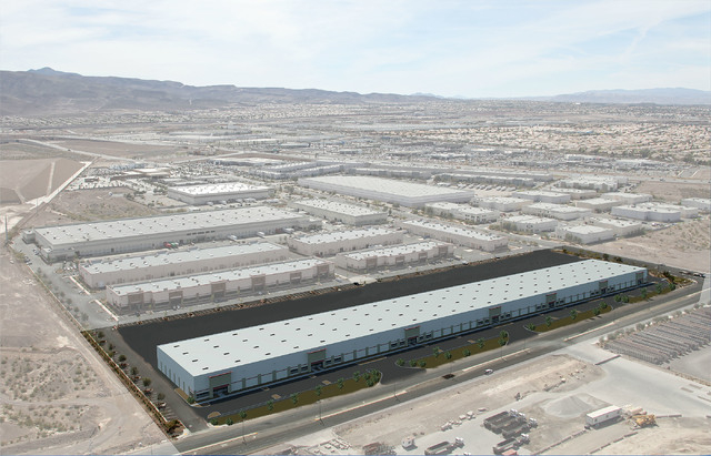 Rendering shows Harsch's planned 240,000-square-foot industrial project in the Henderson Commerce Center. (Courtesy Photo)
