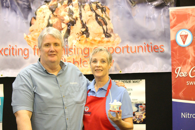 Shane Smith (left) and Virginia Smith (right), Sub Zero area developers at the Franchise and Business Opportunity Showcase at Embassy Suites convention center on Sept. 24, 2016.
