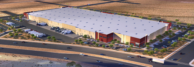 Rendering shows Panattoni Development Co.'s planned 482,000-square-foot industrial project near Executive Airport. (Courtesy Photo)