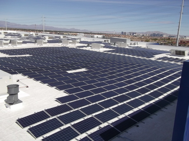 IKEA solar array project stands ready for the opening of the retailer's new Las Vegas location May 18. (Courtesy Helix Electric)