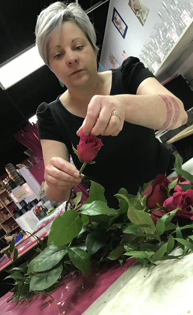 "Enchanted Florist co-owner Kathryn Null calls St. Valentine's Day ""the Super Bowl of flowers"". Photo by Buford Davis / Las Vegas Business Press"