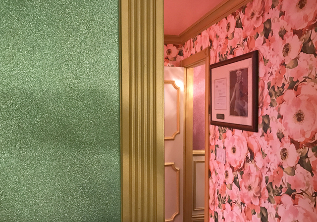 The themed rooms' decoration includes details like glitter paint. (Buford Davis/Las Vegas Business Press)