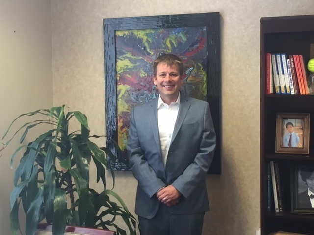 Adam Rudd, CEO of Southern Hills Hospital and Medical Center at his office on the facilities' campus at Forte Apache and Sunset Roads on May 23, 2016. Photo by Jeffrey Meehan/Las Vegas Business Press.