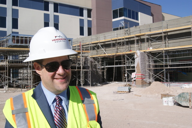 Sam Kaufman, CEO of Henderson Hospital, says both construction and hiring are going well and are on track for a fall opening. (Garrison Wells, special to the Las Vegas Business Press)