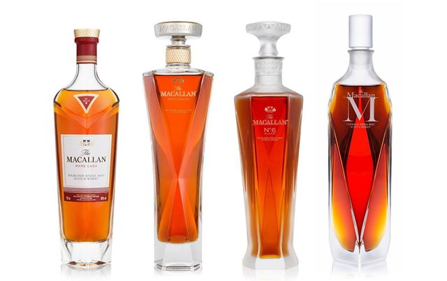 Macallan No. 6 Highland single malt Scotch whisky from the Macallan 1824 Master Series, $4,000; available at Lalique in The Atrium at The Palazzo