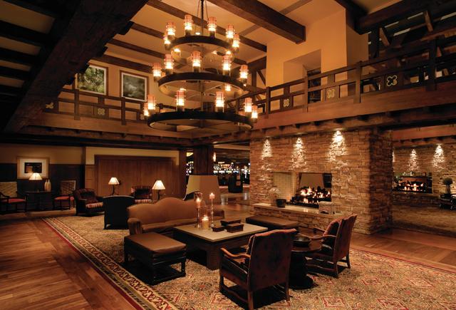 The lobby at Pinnacle Entertainment's L'Auberge Casino Resort in Lake Charles, Louisiana. (Courtesy)