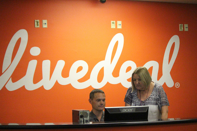 Staffers greet visitors at the front desk of Live Ventures in Las Vegas. Jeffrey Meehan, Las Vegas Business Press