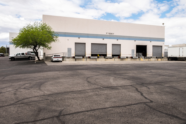 The industrial building at 204 E. Mayflower Avenue in North Las Vegas was recently sold for $2.8 million. Ulf Buchholz/Las Vegas Business Press.