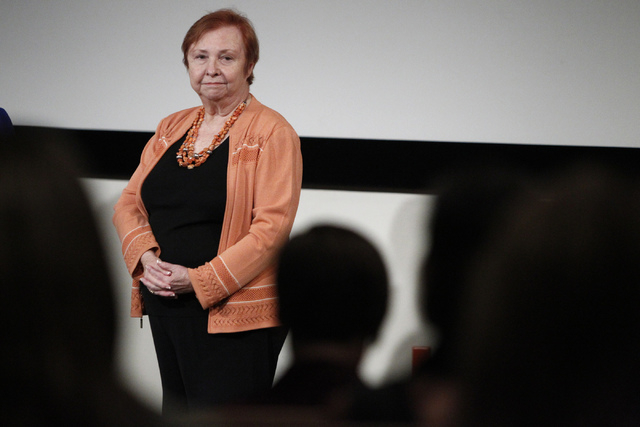 Barbara Atkinson, founding dean at the UNLV School of Medicine, has been working on the project for several years. Here, she answers questions from the audience during a forum on valuing a new UNL ...