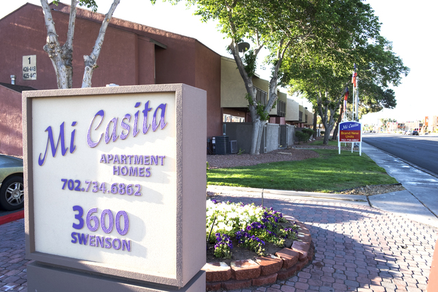 Mountain View Equity recently purchased the 764-unit Mi Casita Apartments at Swenson Street and Twain Avenue in Las Vegas. Ulf Buchholz/Business Press