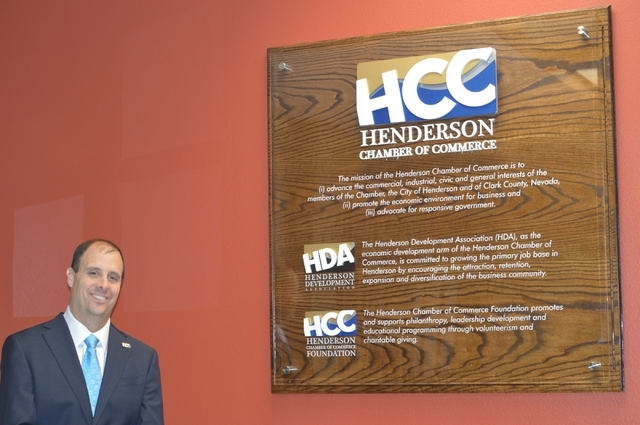 Scott Muelrath, president and CEO of the Henderson Chamber of Commerce, says the chamber plays a major role as a community resource and conscience. (Stephanie Annis, special to the Las Vegas Busin ...