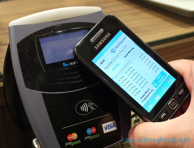 With NFC technology, a credit or debit card transaction can be completed by passing the smartphone within an inch of the enabled Point of Sale terminal. (Courtesy)