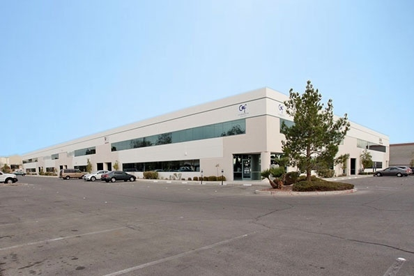 Harsch Investment Properties purchased the 57,838-square-foot Patrick Airport Center at 2900 Patrick Lane in Las Vegas for $5.1 million. (Courtesy Harsch)