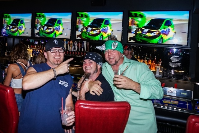 "The cast of History Channel's show, ""Counting Cars"" -- from left, Horny Mike, Rock N Roli and Ryan Evans -- celebrated the premiere of their new season at the Longbar inside the D Casino Hot ..."