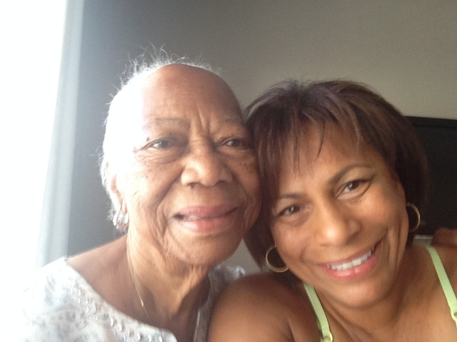 Ann Santiago and her mom, Otilia Santiago, age 94