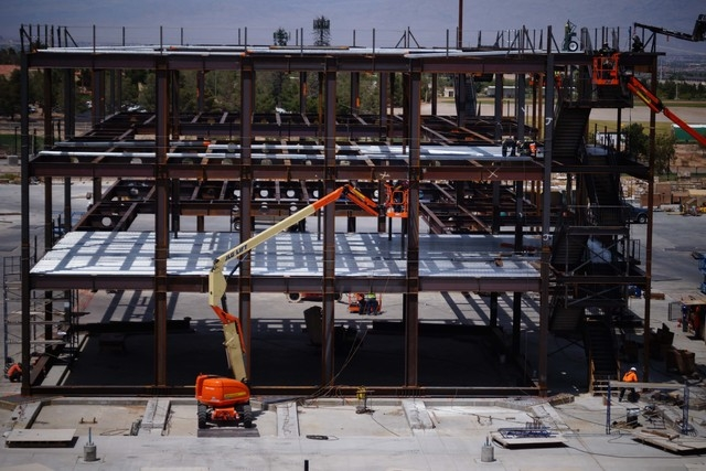Construction continues on the second phase of Tivoli Village, which will have 450,000 square feet of retail space and 300,000 square feet of office space upon completion in 2016. (Photo courtesy T ...