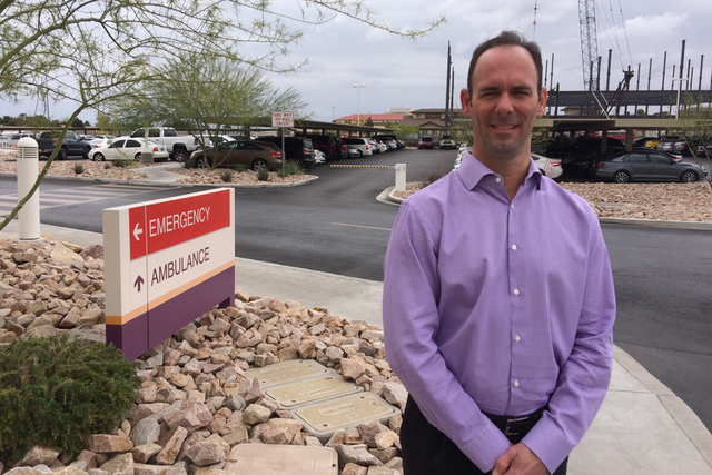 Dr. Darren Swenson, chief medical officer of MountainView Hospital, says the new residency programs are likely to increase the number of doctors who set up practice in the Las Vegas Valley. (Jan H ...