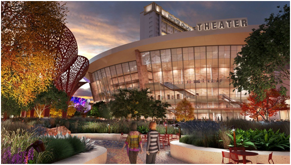 An artist's rendering shows The Park. (Courtesy MGM Resorts International)