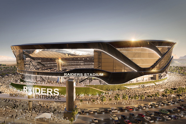 A rendering shows how the proposed domed stadium for Las Vegas might look like. (Courtesy)