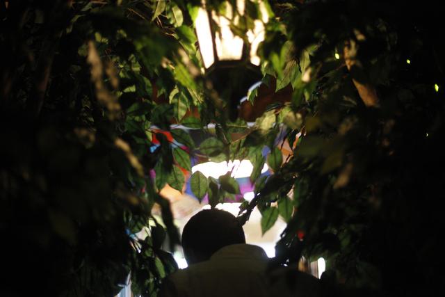 Owner Scott Seeley walks through the decorated passageway inside the Writer's Block in downtown Las Vegas on Tuesday, June 7, 2016. Rachel Aston/Las Vegas Review-Journal Follow @rookie__rae