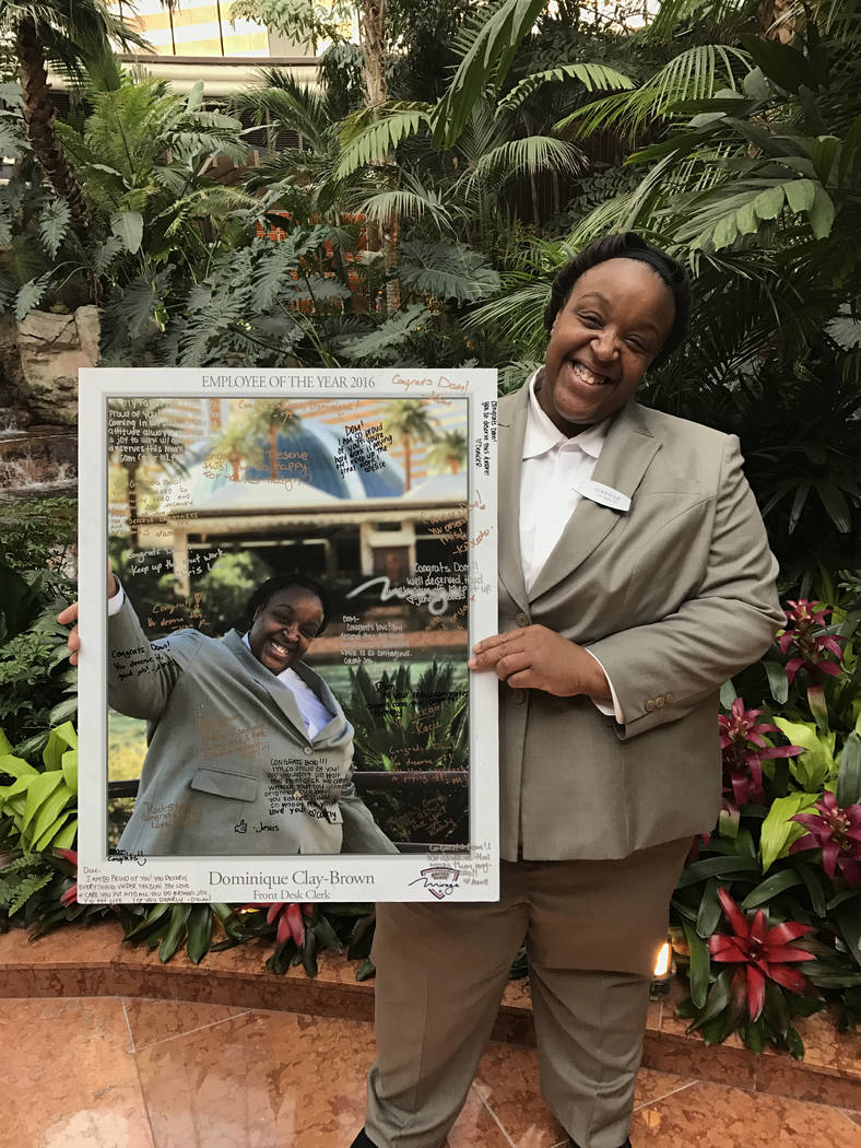 Dominique Clay-Brown, Mirage front desk clerk, is a participant of the Southern Nevada Best Buddies job placement initiaitve. Courtesy