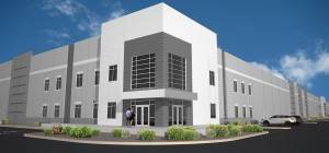 Indiana-based Scannell Properties progresses on its 338,520-square-foot industrial project in North Las Vegas at 2910 Alto Ave., near Cheyenne Avenue and Walnut Road. (Courtesy)