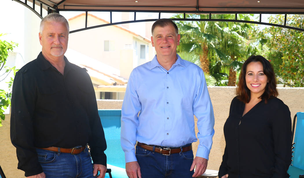 Higher Path Living founder Dennis Hofmaier, center, with Veronica Scala, right, the center's outreach director/recovery coach,and Steve Appel, recovery coach and reiki master. Courtesy.