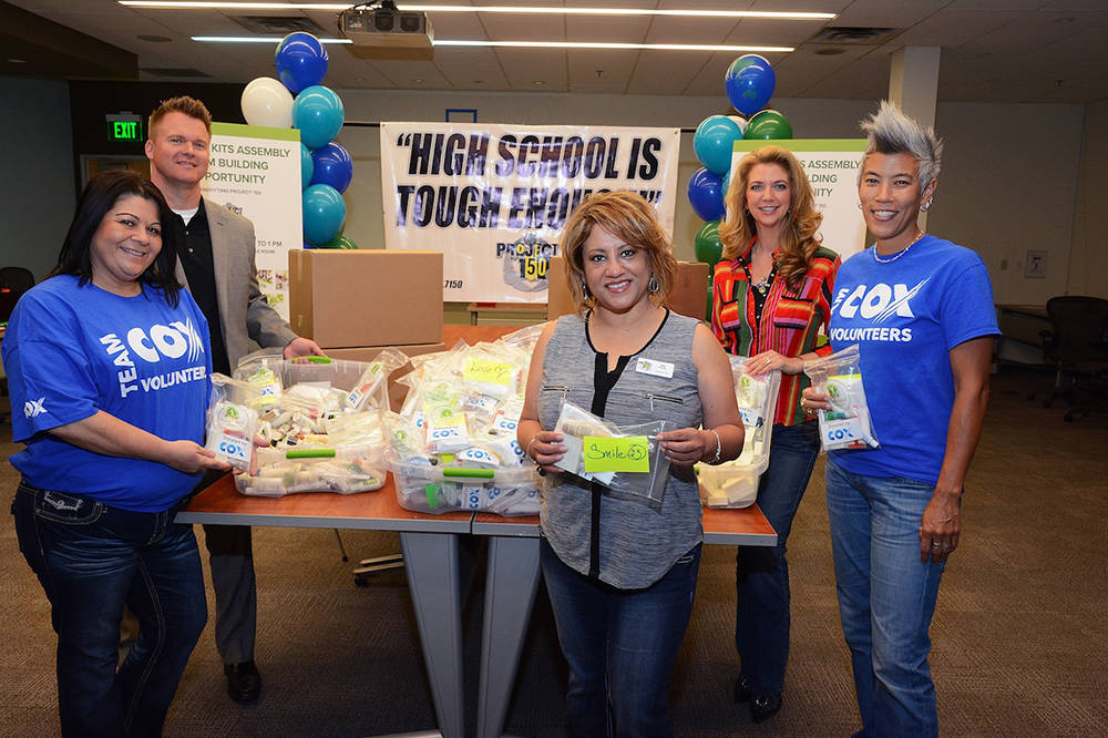 During National Volunteer Month, employees at Cox Communications volunteered to support Project 150 by assembling much needed hygiene kits to benefit homeless, displaced and disadvantaged high sch ...