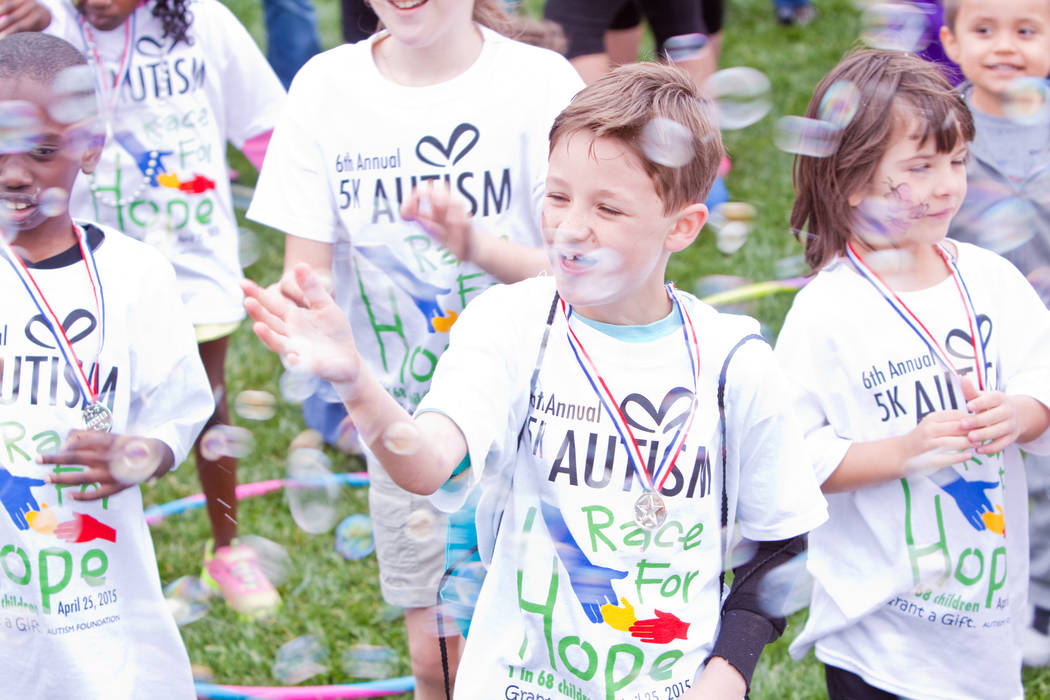 Kids play at a previous 5K Race for Hope and Fun Walk. This year's Grant a Gift for Autism fundraiser was held April 29. (Courtesy)