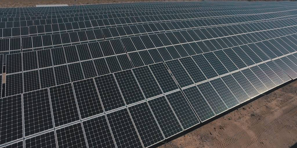 The 80-acre site includes 54,000 photovoltaic solar panels that generate renewable electric power at cheaper rates than existing power purchase agreements with third-party electricity providers. ( ...