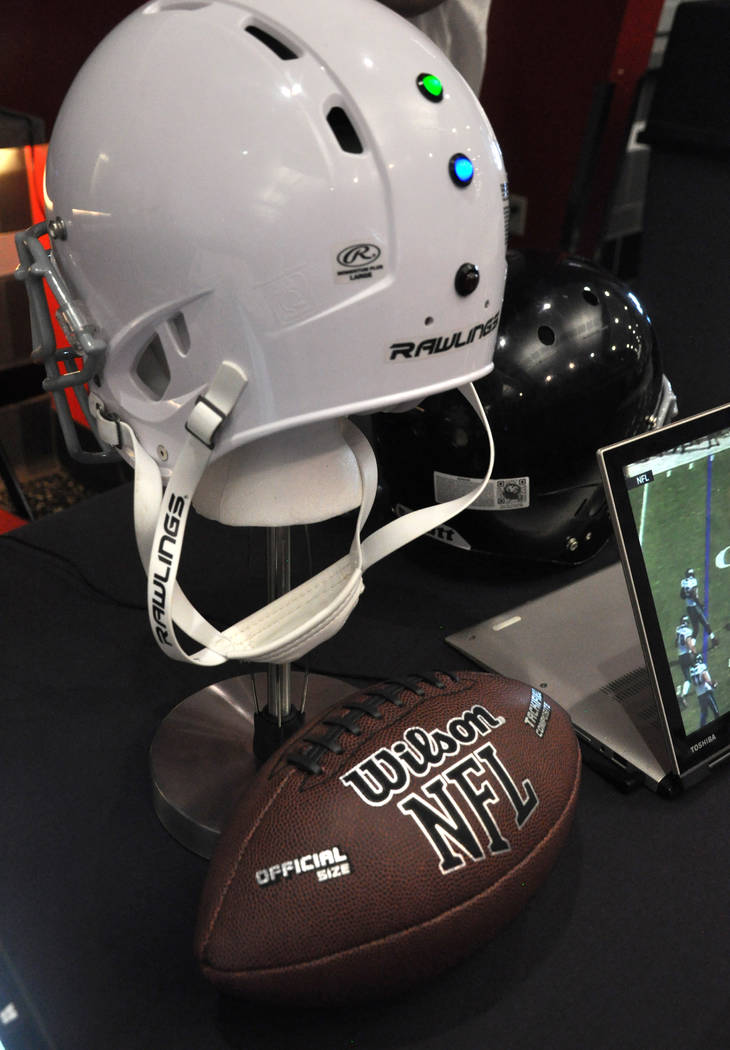 UNLV Department of Electrical and Computer Engineering students Andrea Aldana, Wale Gebre and Co Nguyen designed a system to collect data on helmet impact during high-impact sports events, such as ...