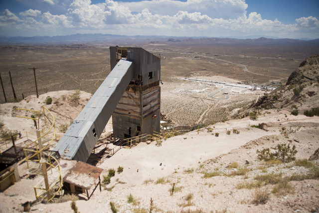 Old mining equipment is seen during a tour of the site of a proposed community inside the Blue Diamond Hill Gypsum mine near the town of Blue Diamond on Thursday, Aug. 11, 2016. Daniel Clark/Las V ...