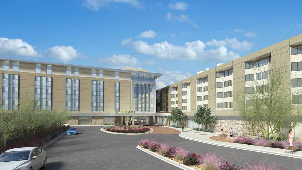 Courtesy  Rendering of the new 180,000-square-foot, five-story tower at Sunrise Hospital's campus at 3186 S. Maryland.