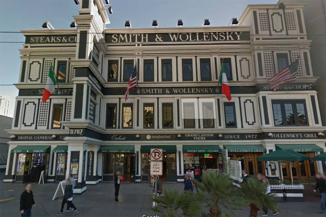 Smith & Wollensky, 3767 Las Vegas Blvd. South, on the Las Vegas Strip. (Google Street View)
