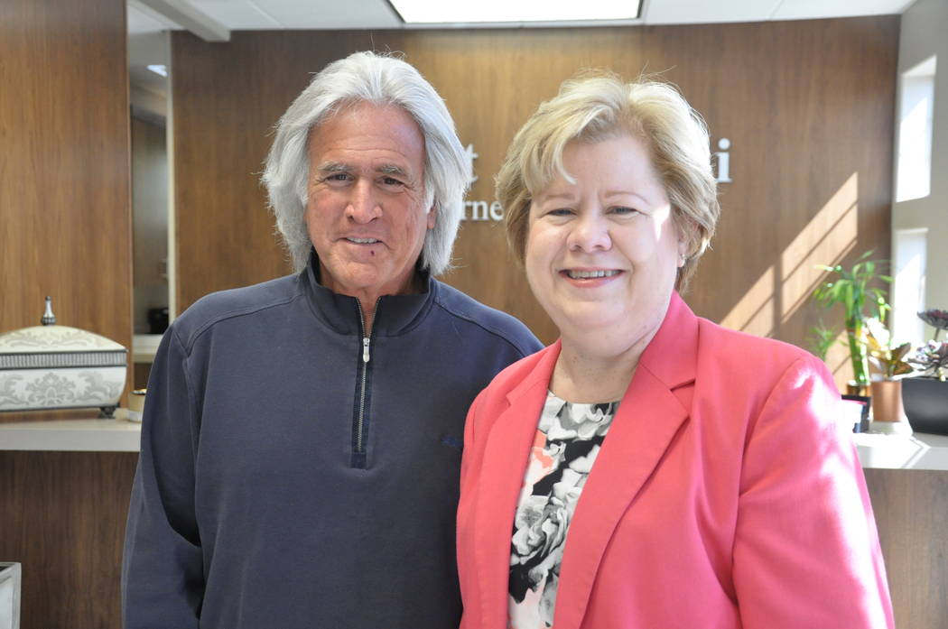 Attorney Bob Massi discusses career advice with host Debbie Donaldson. Buford Davis / Las Vegas Business Press