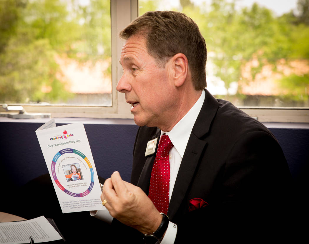 TONYA HARVEY/LAS VEGAS BUSINESS PRESS The Foundation for Positively Kids Inc. founder and CEO Fred Schultz.