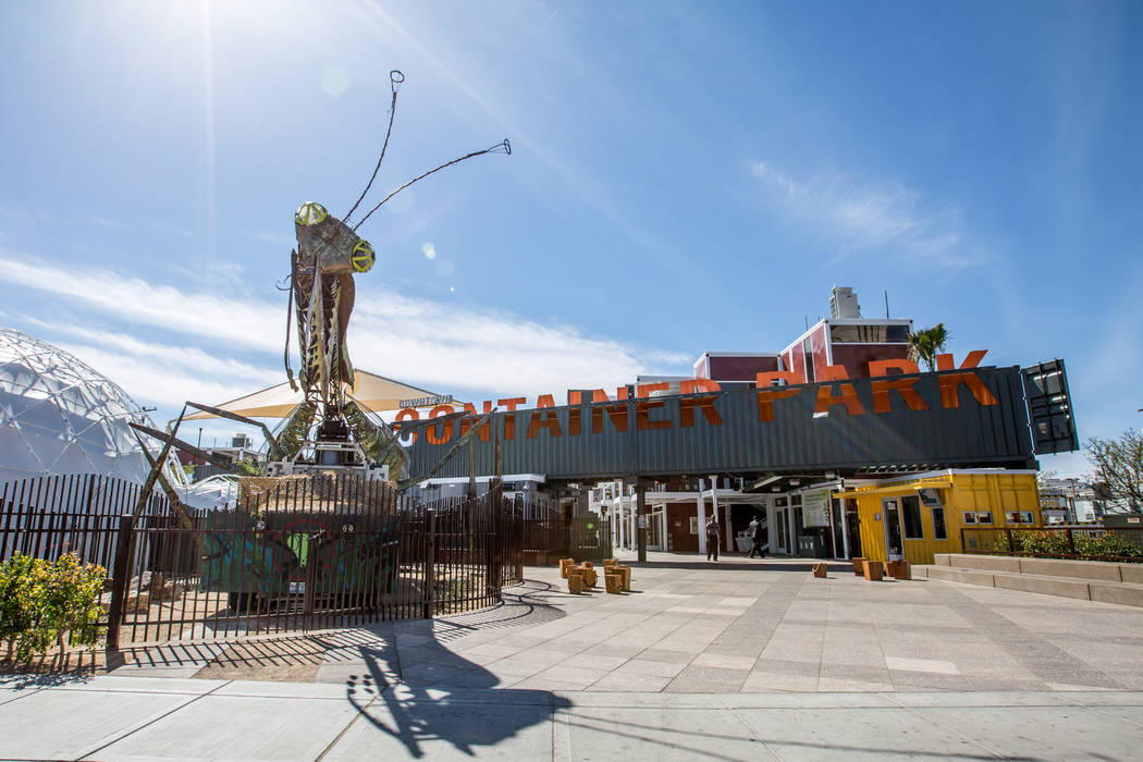 The container park in downtown Las Vegas is part of the revitalition of that area. (Downtown Project)