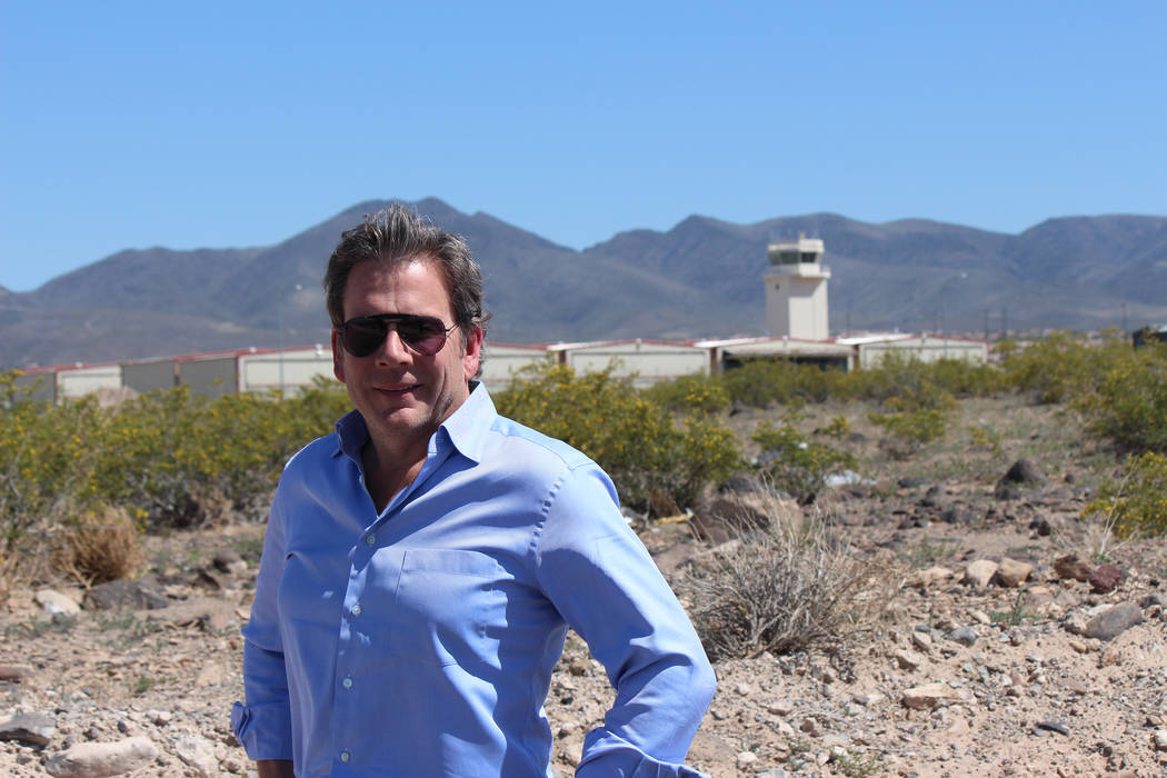 Jeff LaPour stands at the future site of a 207,000-square-foot industrial project near Henderson Executive Airport, known as Airpark South.  Jeffrey Meehan, Las Vegas Business Press