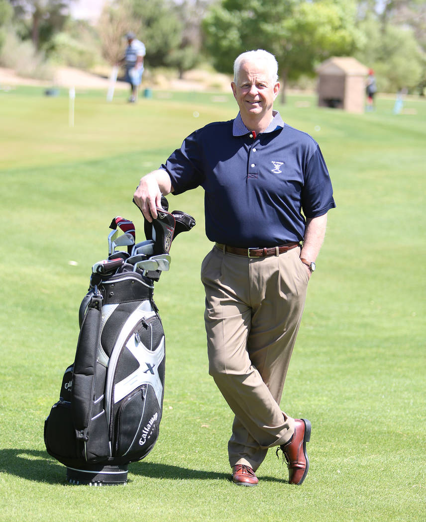 Dan Stewart at Wildhorse Golf Club on Thursday, April 13, 2017, in Henderson. Bizuayehu Tesfaye Las Vegas Review-Journal @bizutesfaye