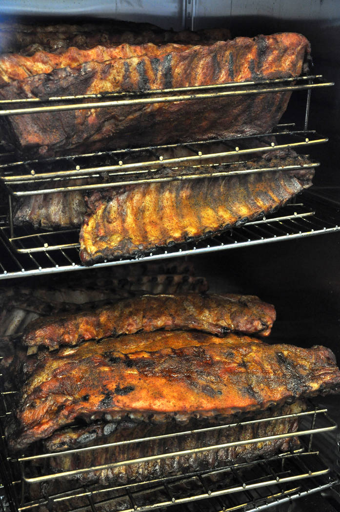Pork ribs at Tennesseasonings. Tennessee barbecue is traditionally pork, rather than beef, due to the historic ease of preservation the meat, according to restaurant co-owner Laura Harris. Photo b ...