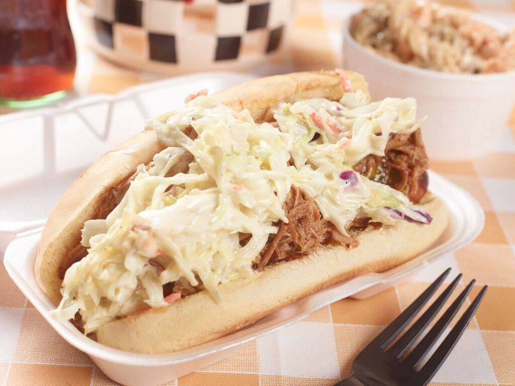 Sausage with pulled pork and slaw at Tennesseasonings. Courtesy.